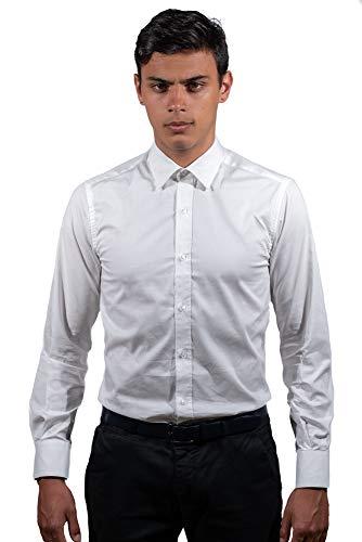 Montecristo Camicia Uomo Camicia Bianca Slim Fit 100% Cotone (Collo 39)