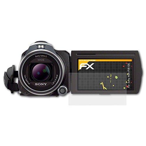 atFoliX Panzerfolie kompatibel mit Sony HDR-PJ810E Schutzfolie, entspiegelnde und stoßdämpfende FX Folie (3X)