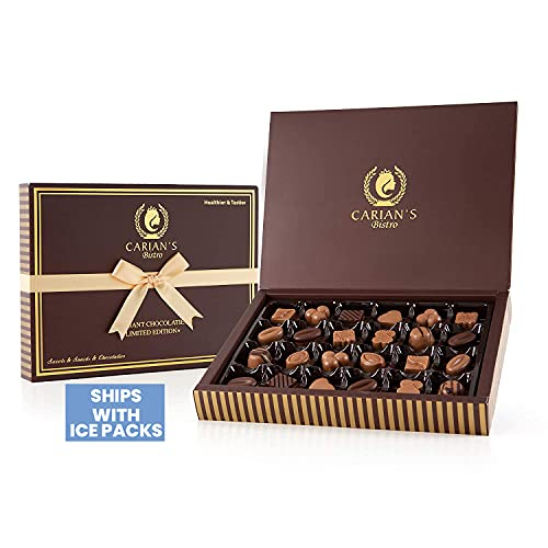 Carian's Bistro Chokolade Assorted Chocolate Truffles Gaveæske med guldbånd, Premium chokoladegave og fantastisk til…