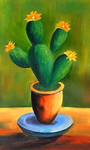 DIY olieverfschilderij door cijfers Kits Thema Digitale Schilderij Cactus Bloem Pot Planten Canvas Gift voor Volwassenen Kinderen Verjaardag Bruiloft Nieuwe Accommodatie of Kerst Decoraties