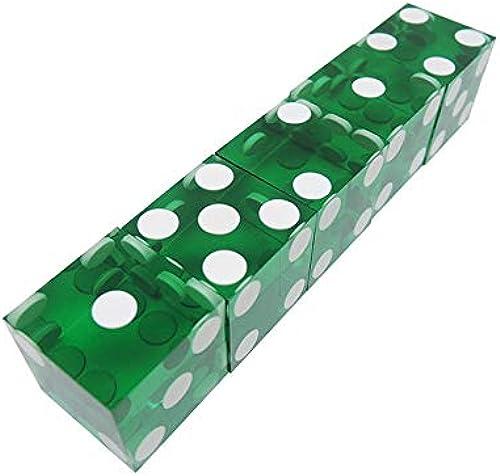 calidad oficial Dados de Casino Casino Casino de 19 mm con los Bordes Números de Serie Dados claros translúcidos D6 - verde  servicio considerado