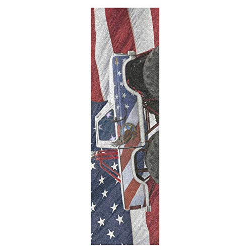 Monstruo, Estados Unidos, América, Mapa, Monopatín Papel de Lija Antideslizante Hoja Cinta de Agarre Lijas para Patineta Scooter Etiquetas engomadas (84 x 23 cm)