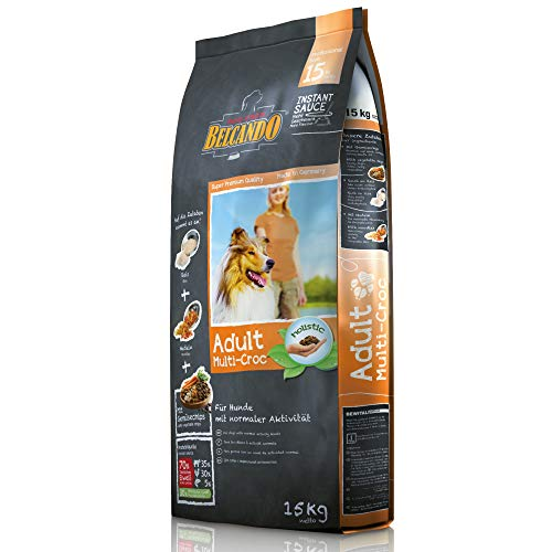 Belcando Adult Multi-Croc [15 kg] | Trockenfutter für Hunde mit Gemüsechips & Nudeln | Alleinfuttermittel für ausgewachsene Hunde ab 1 Jahr