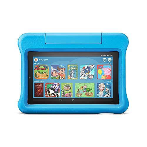Fire 7 Kids Edition Tablet | 7' Display, 16 GB, Blue Kid-Proof Case