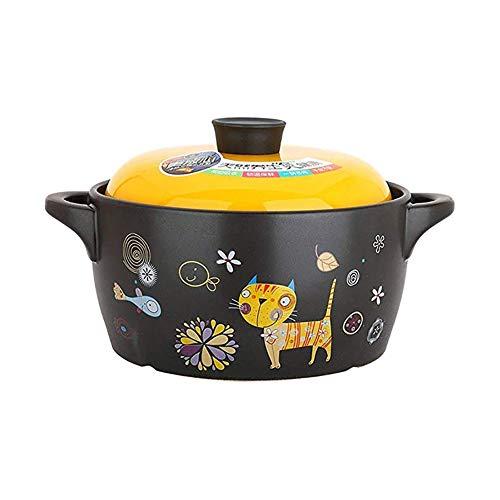HPKC Dutch Oven Nonstick Pot Kitchen Kochgeschirr kein Verblassen, DREI-Loch Ventilation, hohe Temperaturbeständigkeit, Gute Wärmekonservierungswirkung, Antihaft-Pfanne, Capacit4.3L