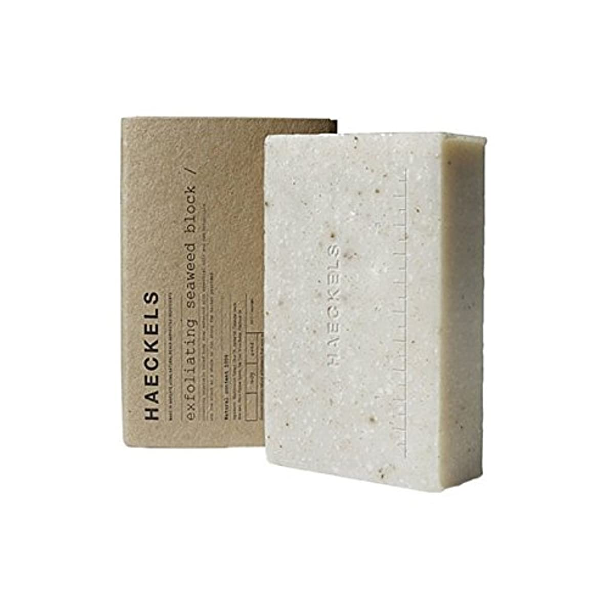 スイス人キネマティクス侮辱海藻ブロック320グラムを剥離 x2 - Haeckels Exfoliating Seaweed Block 320G (Pack of 2) [並行輸入品]