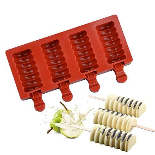 Moldes de silicona para paletas, molde para helado, paletas caseras, molde para paletas de hielo, utensilios de cocina, accesorios para batidos de frutas, azul