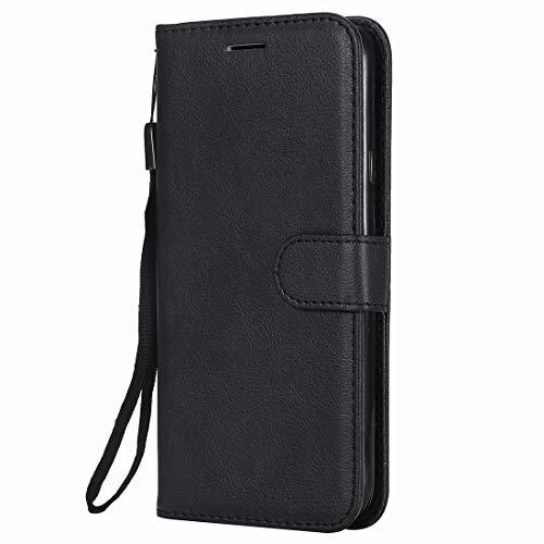 Yiizy handyhülle für Nokia Lumia 635 / RM-974 Ledertasche, Fashion Stil Lederhülle Brieftasche Schutzhülle für Nokia Lumia 635 hülle Silikon Cover mit Magnetverschluss Kartenfächer (Schwarz)