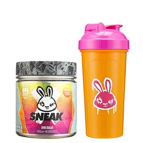 SNEAK | Tropikilla Edition | In-Game Focus Boost Energy Drink, Zero Sugar, Low-Calorie, Vegan | 40 Servings & Neon Shaker Bundle