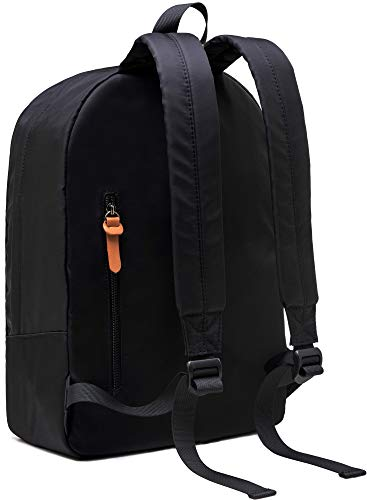 Gysan Lightweight Water Resistant Backpack for Women Men Bookbag Travel Daypack College Fit 15 Inch, Black