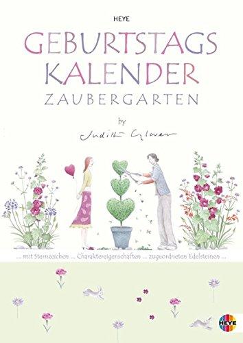 Judith Glover Geburtstagskalender A4 - immerwährender Kalender mit Monatskalendarium - Format 21 x 29,7 cm