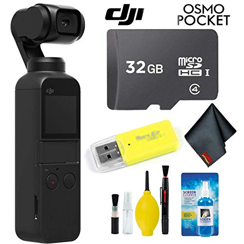 DJI Osmo Pocket Gimbal + Essential Accessories + 32GB Memory Card