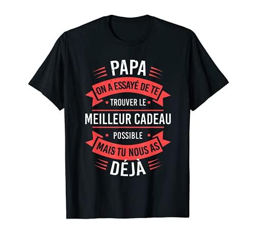 Vintage Papa T-shirt Fête Des Pères Cadeau Anniversaire Papa T-Shirt