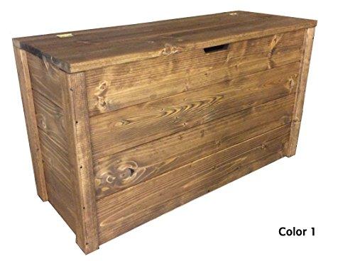 TOTAL WOOD 2012 Truhenbank banktruhe sitzbank sitztruhe truhen aus Holz B x T x H ca.: 90cm x 35cm x 50 cm.