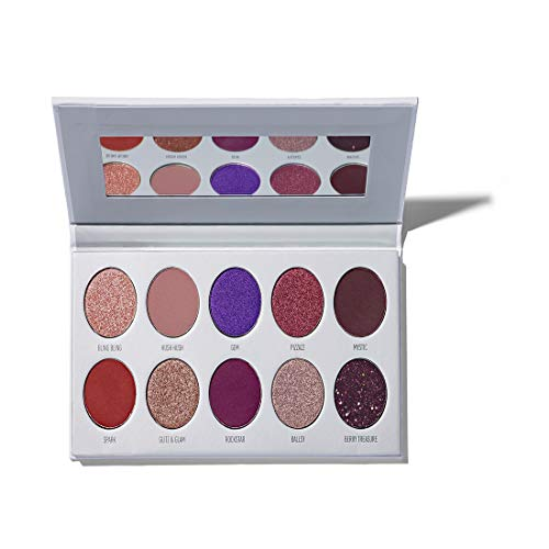 Morphe x Jaclyn Hill Eyeshadow Palette - Bling Boss - Super-Pigmented Eyeshadows - Epic Jewel Heist of 10 Creamy Eyeshadows - A Palette of Matte and Metallic Eyeshadows