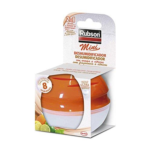 Rubson Guzzini Deshumificador Mini Ideal para Espacios Pequeños con Fragancia Cítricos, Naranja