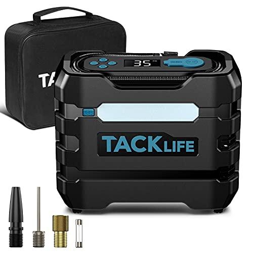 TACKLIFE ACP1B Compresor Aire Coche 150PSI 12V, Compresor de Aire Eléctrico Portátil...
