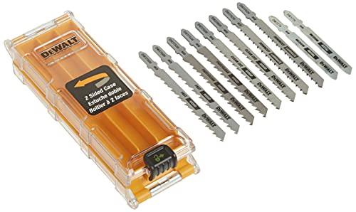 DEWALT Jigsaw Blades Set with Case, T-Shank, 10-Piece (DW3741C)