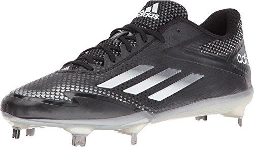 adidas Adizero Afterburner 2.0 Mens Baseball Cleat 13 Black/Tech Grey Met/White