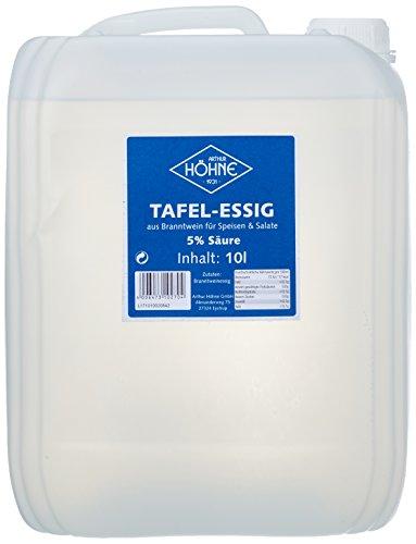 Höhne Tafelessig, 5{b71833694c66a9e5bc241a7b5a61005014be084ce97b0f17bb3340cb27d5c352} Säure, 1er Pack (1 x 10 l Kanister)
