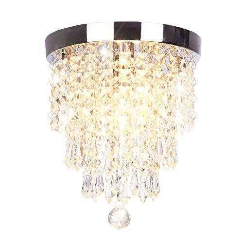 Dellemade Mini 1-Licht Kristall kronleuchter Modern Deckenleuchte Für Treppenhaus, Bar, Küche, Esszimmer, Kinderzimmer 22CM