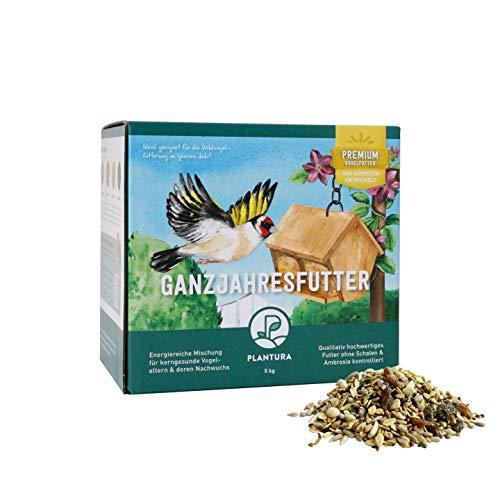 Plantura Ganzjahresfutter aus besonderen Sämereien für Wildvögel, auch für Jungvögel, als Sommerfutter geeignet, 5 kg