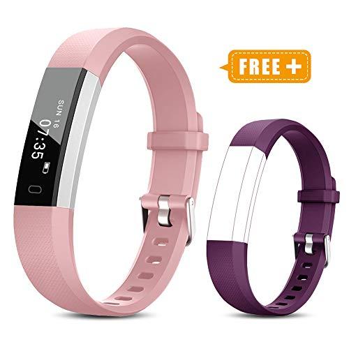TOOBUR Fitness Armband für Kinder Damen, Schrittzähler Uhr Fitness Tracker mit Kalorienzähler, Wasserdicht Schmal Aktivitätstracker...