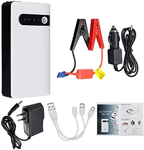 Portable Car Jump Starter, 20000mAh 12V Outdoor Emergency Battery Booster For Motorcycle, Truck, SUV, Car Mobile Power With Charger And Clip