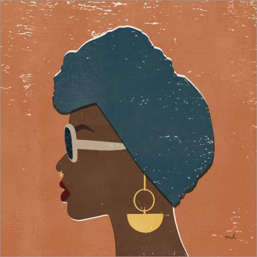 Posterlounge Cuadro de Madera 60 x 60 cm: Kenya Couture II de Moira Hershey/Wild Apple Graphics