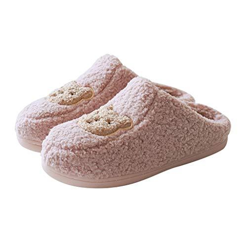 ZRL Antideslizante Zapatillas de Estar por Casa para Mujer Cozy Memory Zapatos de Espuma Casa Interior Al Aire Libre Anti-patín Suela de Goma para Damas Y Estudiantes Suave