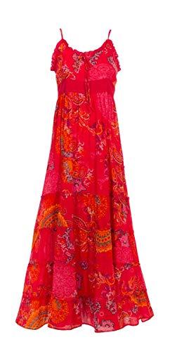 Coline Navy Print langes Kleid (Fuchsie, S/M)