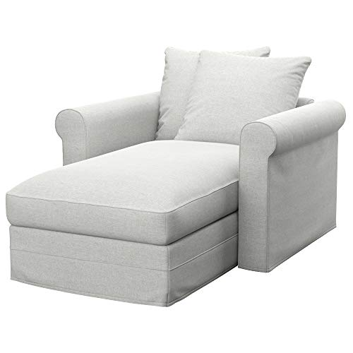 Soferia Funda de Repuesto para IKEA GRONLID chaiselongue, Tela Classic Creme, Off-White