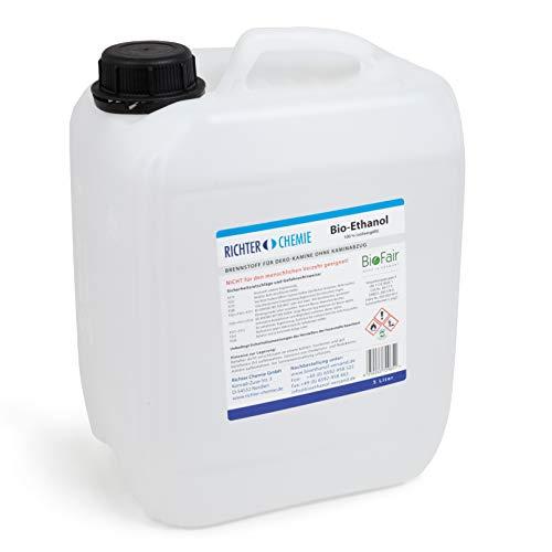5L Bioethanol 100% - Markenprodukt BioFair - geprüfte Laborqualität - MADE IN GERMANY