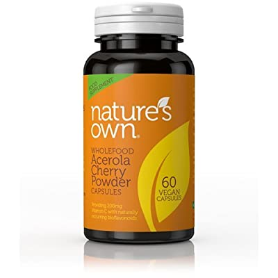 Natures Own Cherry Wholefood Vitamin C Vegetable 200mg - Pack of 60 Capsules by Natures Own