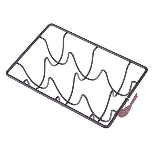 BESTONZON Porte-Oeufs en Fil de Fer Rack de Rangement pour Distributeur de Skelter avec Oeuf en métal 6 Compartiments (Noir)