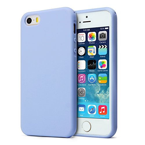 MUNDULEA Compatible iPhone SE (2016 Edition)/iPhone 5/iPhone 5s Case,Shockproof TPU Ptotective Cover Compatible iPhone 5s (Sky Blue)