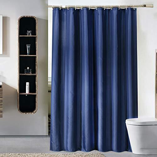 Wasserdichter Duschvorhang Parkarma PEVA 180*180cm Duschvorhang aus Polyester Waschbar mit 12 Duschvorhängeringen für Badezimmer