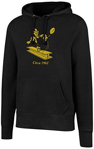 OTS NFL Pittsburgh Steelers Mens Fleece Hoodie, Distressed Team Color Legacy Logo, Medium