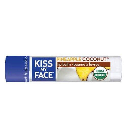Kiss My Face Organic Lip Balm, Coconut Pineapple, 0.15 Ounce