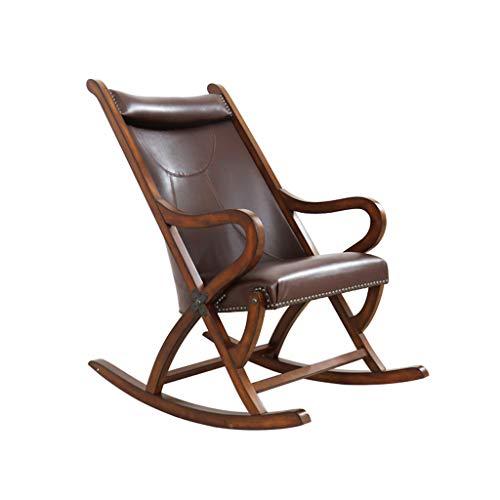 HYYTY-Y American Solid Wood Schaukelstuhl, Retro Single Sofa mit Pedalen, Freizeit und Easy Chair 629-YY (Color : A)