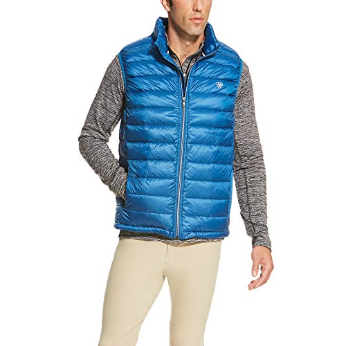ARIAT Men's Ideal Down Vest Rush of Blue Size Large