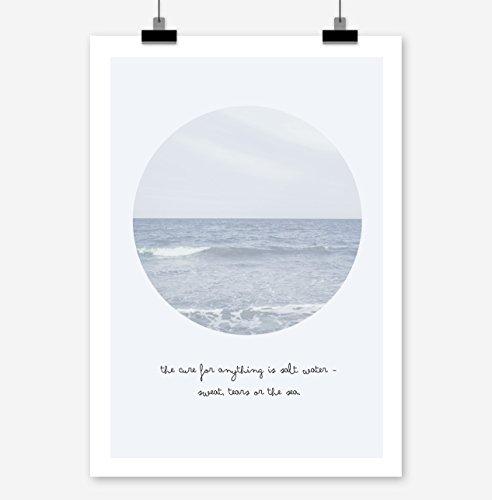 Prints Eisenherz The Cure is Salt Water Kunstdruck Poster (A3)