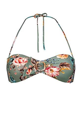 Watercult Bandeau-Bikini-Oberteil Größe 42, Farbe Vintage Garden
