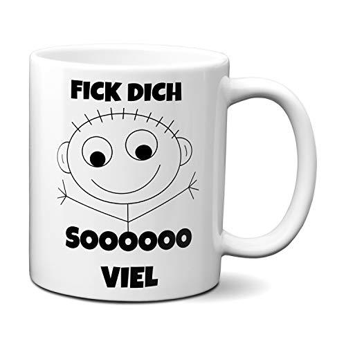 Fick Dich sooo viel - Tasse Kaffeetasse Spruch Geschenk Frech Echte Freunde