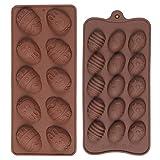 Diealles Shine 2 Unidades Pascua Moldes de Chocolate, Moldes de Silicona para Huevos de Pascua para Chocolate para Repostería Cocina, decoración