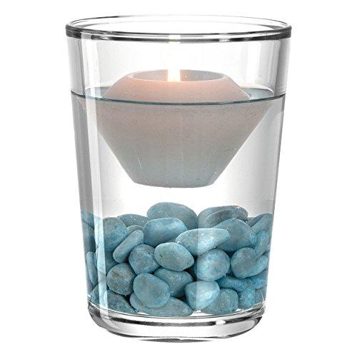 Leonardo 078365Glas blau, transparent Teelichthalter Windlicht 115mm, 115mm, 160mm, Tisch, Glas, Blau, Transparent