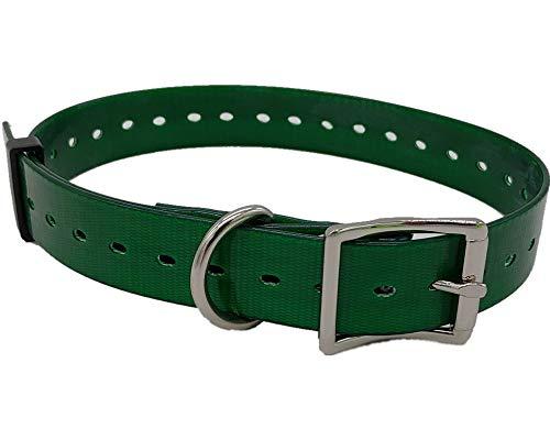 CANICOM Collar plastificado de Biothane Fluo 65 cm x 2,5 cm x 2 mm Verde -
