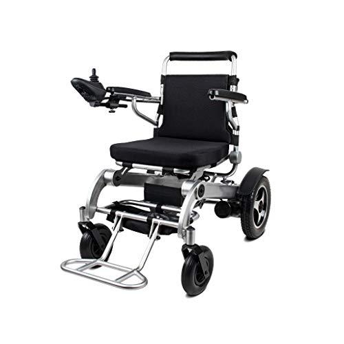 Silla de ruedas eléctrica, Silla de ruedas eléctrica plegable multifuncional, Vehículo inteligente de 4 ruedas discapacitado para ancianos, Elevador de scooter portátil automático se puede levantar