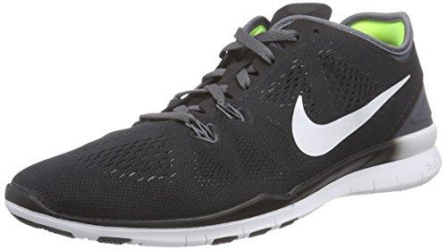 Nike Women's Free 5.0 TR Fit 5, BLACK/WHITE/DARK GREY/WHITE Running Shoe (9)