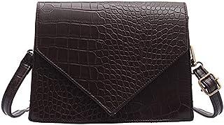 TOOGOO New Retro Leather Stone Pattern Messenger Bag Ladies Fashion Shoulder Bag Ladies Simple Handbag Black